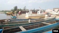 Vista da zona de pesca, Soyo.