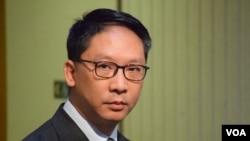 香港律政司司長袁國強(VOA 湯惠芸攝)