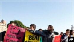 اٹلی میں معاشی بحران کے خلاف طلبہ کے مظاہرے