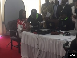 First Lady Grace Mugabe registering to vote.