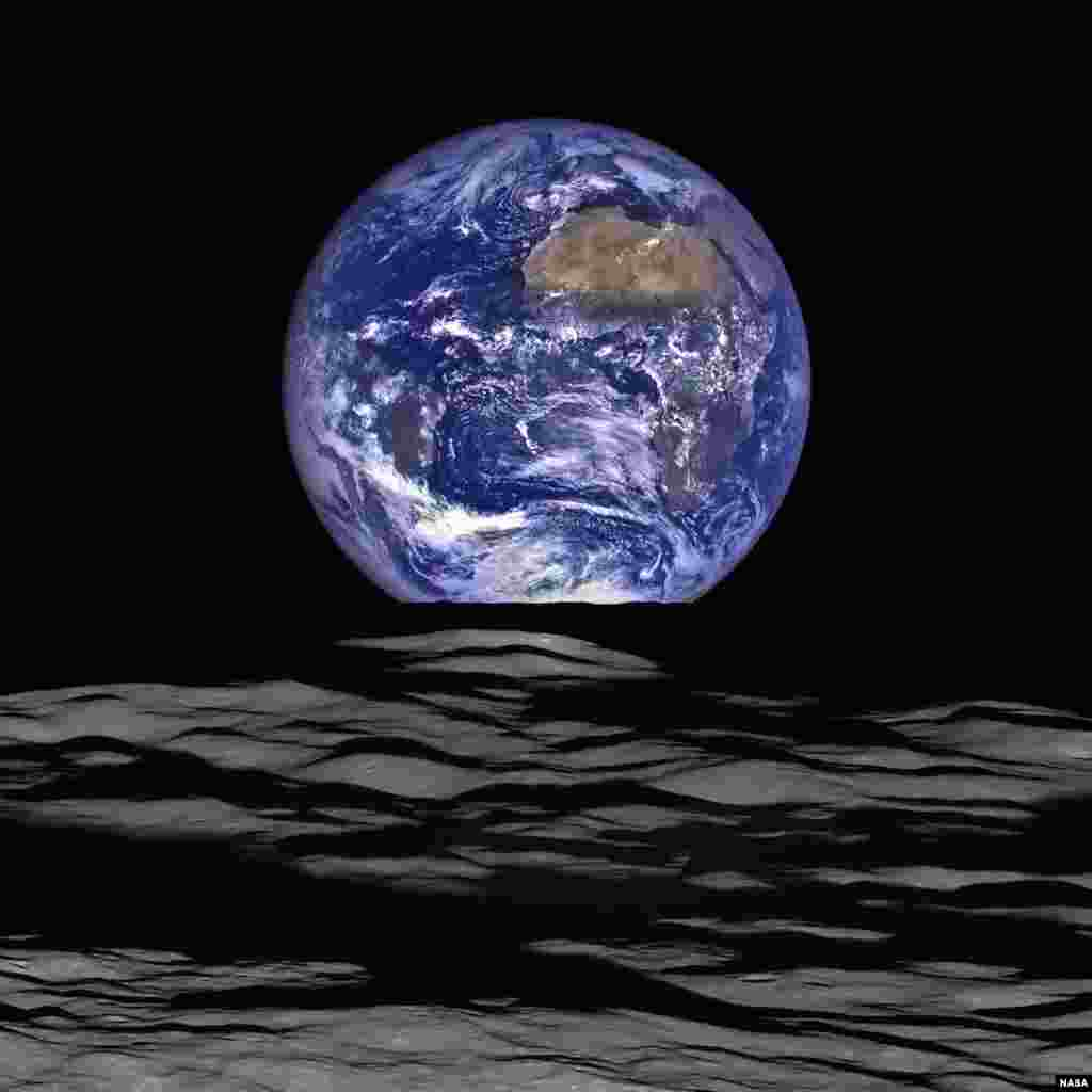 This NASA image released Dec. 18, 2015 shows what NASA's Lunar Reconnaissance Orbiter (LRO) recently captured in a view of Earth from the spacecraft's vantage point in orbit around the moon.