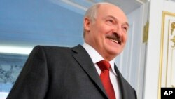 Le président bélarusse Alexandre Loukachenko Minsk, Belarus, Feb. 25, 2016.