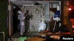 Cảnh sát Israel khám nghiệm hiện trường vụ xả súng ở Tel Aviv hôm 1/1.