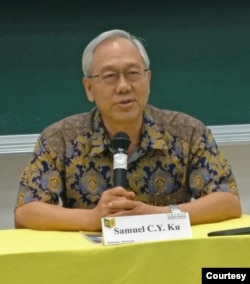 位于高雄的文藻外语大学东南亚硕士学位学程教授顾长永 (照片提供:顾长永)