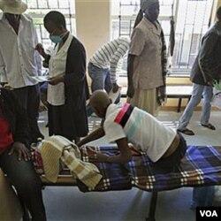 Penderita TB di Lesotho menjalani perawatan. Sebagian besar penderita TB tinggal di negara-negara Sub-Sahara Afrika.