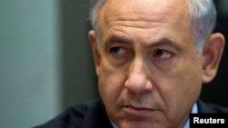 베냐민 네타냐후 이스라엘 총리가 15일 각료회의에 참석했다.