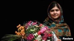 Aktivis pendidikan Pakistan dan penerima anugerah Nobel Perdamaian 2014, Malala Yousafzai.