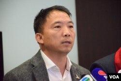 香港民主黨主席胡志偉。(美國之音湯惠芸攝)