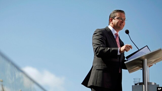 Puerto Rico's Governor Alejandro Garcia Padilla, Jan. 2, 2013.