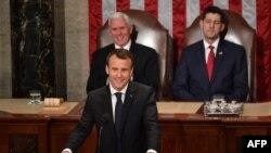 د فرانسې جمهور رئیس امانویل مکرون د متحده ایالاتو کانگرس ته د وینا پر وخت