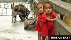 지난 7월 황해남도 해주 보육원의 아이들. 심각한 영양실조를 겪고 있다.
