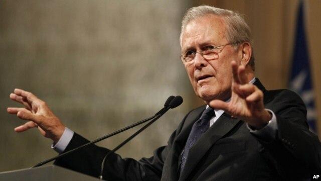Rumsfeld practicó lucha libre durante su adolescencia y en sus años en la Armada.