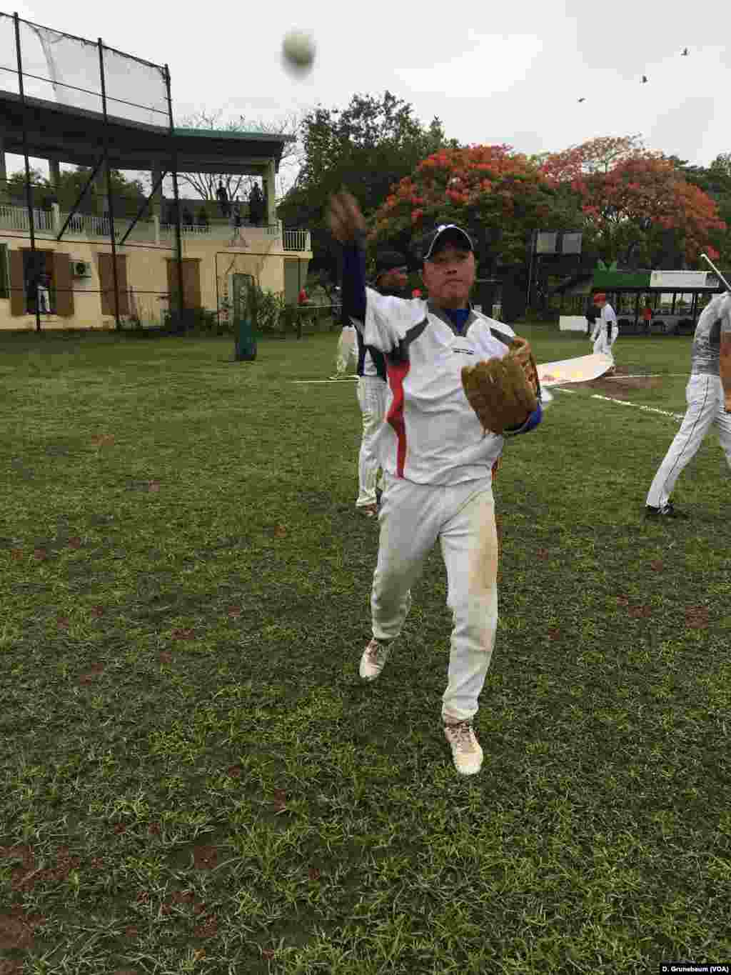 Kyaw Thuya Tun, a taxi driver, plays first base for the Myanmar national team.