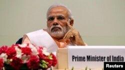 FILE - India's Prime Minister Narendra Modi attends an event in New Delhi, Feb. 17, 2015.