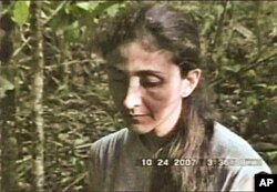 Betancourt in 2007 in a FARC hostage video