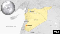 Peta wilayah Suriah.