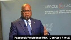 Président Félix Tshisekedi na bokutani na Fédération ya ba entreprises Belges, na Bruxelles, 20 septembre 2019. (Facebook/Présidence RDC)