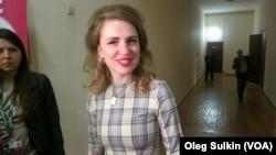 Валерия Гай Германика после пресс-конференции