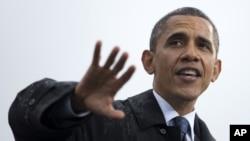 le président Obama à l'université de Cleveland, dans l'Ohio