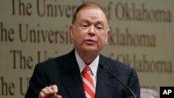 FILE - David Boren, president of the University of Oklahoma.