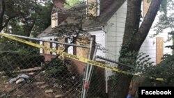 خانه «دنیل بکویت» در مریلند که برای حفاظت از حمله احتمالی کره شمالی در آن تونل حفر می کرد