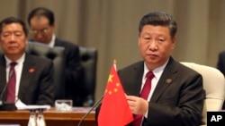 资料照:中国国家主席习近平在南非约翰内斯堡参加金砖国家峰会 (2018年7月26日)