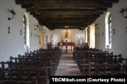 Catholic Mass is still celebrated at Mission Espada and the other three missions in the National Historical Park.