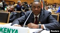Tổng thống Kenya Uhuru Kenyatta tham dự lễ khai mạc Phiên họp Thường niên lần 22 của Hội nghị Liên hiệp châu Phi tại Addis Ababa, 30/1/2014