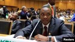Tổng thống Kenya Uhuru Kenyatta tham dự phiên khai mạc Phiên họp Thường niên lần thứ 22 của hội nghị Liên hiệp Châu phi ở Addis Ababa, 30/1/2014