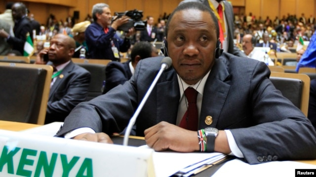 Kenya's President Uhuru Kenyatta attends the opening ceremony of the 22nd Ordinary Session of the African Union summit in Addis Ababa, Jan. 30, 2014.