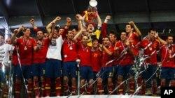 تیم فوتبال اسپانیا در ۲۰۱۲ میلادی برای دومین بار به قهرمانی رسید.