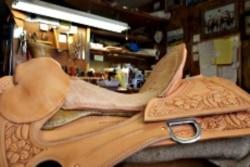 One of Nancy Martiny's saddles