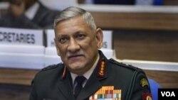 资料照:印度国防参谋长比平·拉瓦特