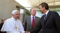 پاپ در جشنواره جوانان کاتوليک در اسپانيا شرکت می کند