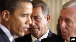 Барак Обама, Джон Бейнер и Стэни Хойер