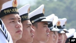 中国海军驻港官兵