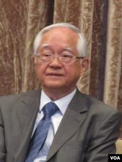 中国知名经济学家吴敬琏(美国之音 记者张佩芝拍摄)