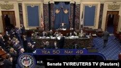 USA, Washington, The U.S. Senate passes President Joe Biden's $1.9 trillion COVID-19 relief plan