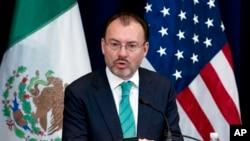 Ministar spoljnih poslova Meksika Luis Videgaraj u Stejt dipartmentu