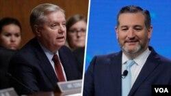 از راست سناتورها تد کروز و لیندزی گراهام