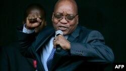 Le président sud-africain Jacob Zuma, lors d'une discours, à Johannesburg, le 29 novembre 2017.