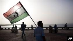 Bandeira dos rebeldes libios