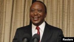 Rais mteule Uhuru Kenyata akihutubia taifa baada ya kutangazwa mshindi na Mahakama Kuu
