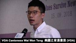 香港前立法會議員羅冠聰 (攝影:美國之音湯惠芸)
