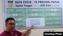 dr. Silwanus Sumule, juru bicara Satgas Covid-19 provinsi Papua (foto: courtesy).