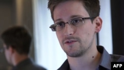 Edward Snowden during an interview with The Guardian newspaper at an undisclosed location in Hong Kong, June 6, 2013.