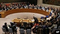 미국 뉴욕 유엔본부에서 열린 안보리 전체회의. (자료사진)