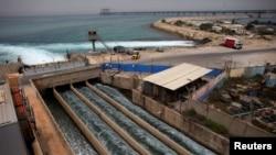 以色列沿海的海水淡化处理厂(2010年5月16日)