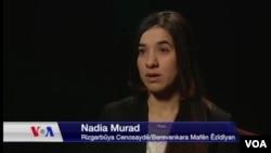 Nadia Murad, la bénéficiaire du Prix Vaclav Havel 2016, sur la Voix de l'Amérique.