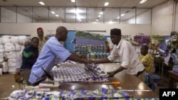People work at the Batex.Ci textile company factory in Bamako, Dec. 19, 2012.